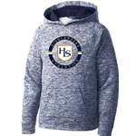 HS304/YST225<br>Youth - PosiCharge Electric Heather Fleece Hooded Pullover
