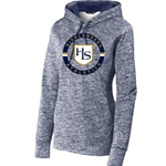 HS204/LST225<br>Womens - PosiCharge Electric Heather Fleece Hooded Pullover